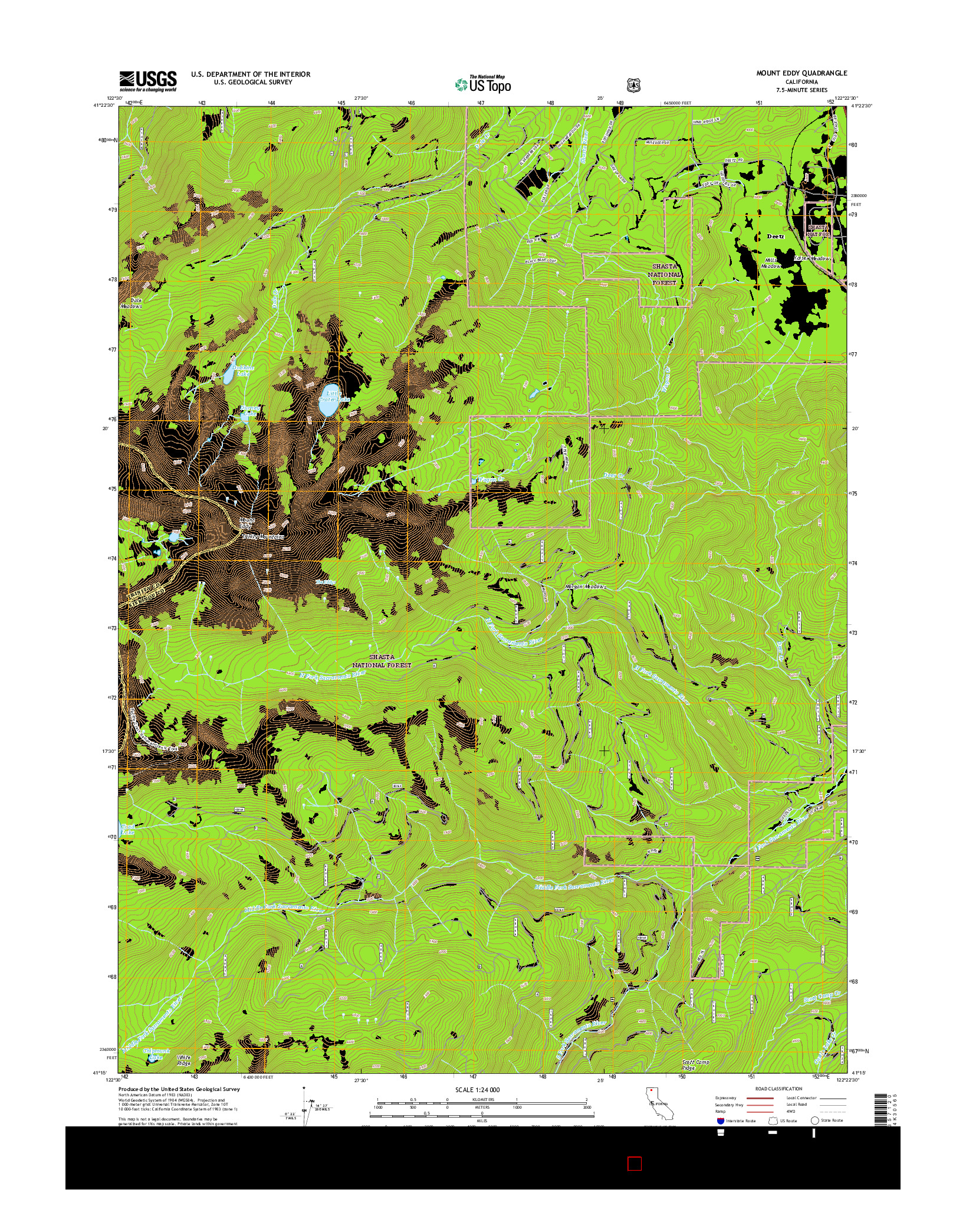 USGS US TOPO 7.5-MINUTE MAP FOR MOUNT EDDY, CA 2015