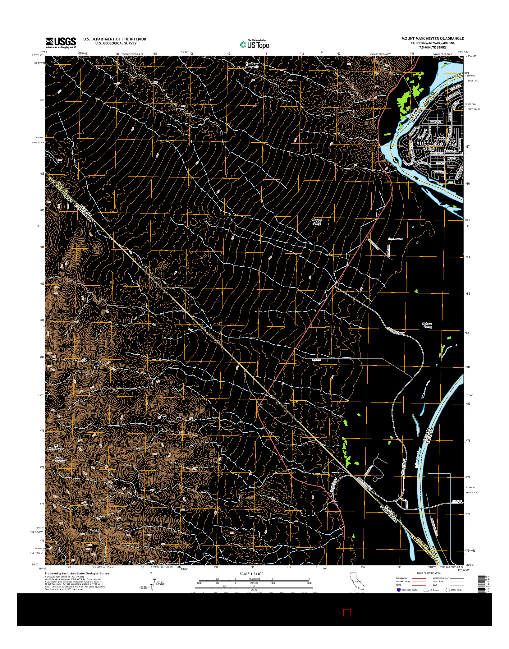 USGS US TOPO 7.5-MINUTE MAP FOR MOUNT MANCHESTER, CA-NV-AZ 2015