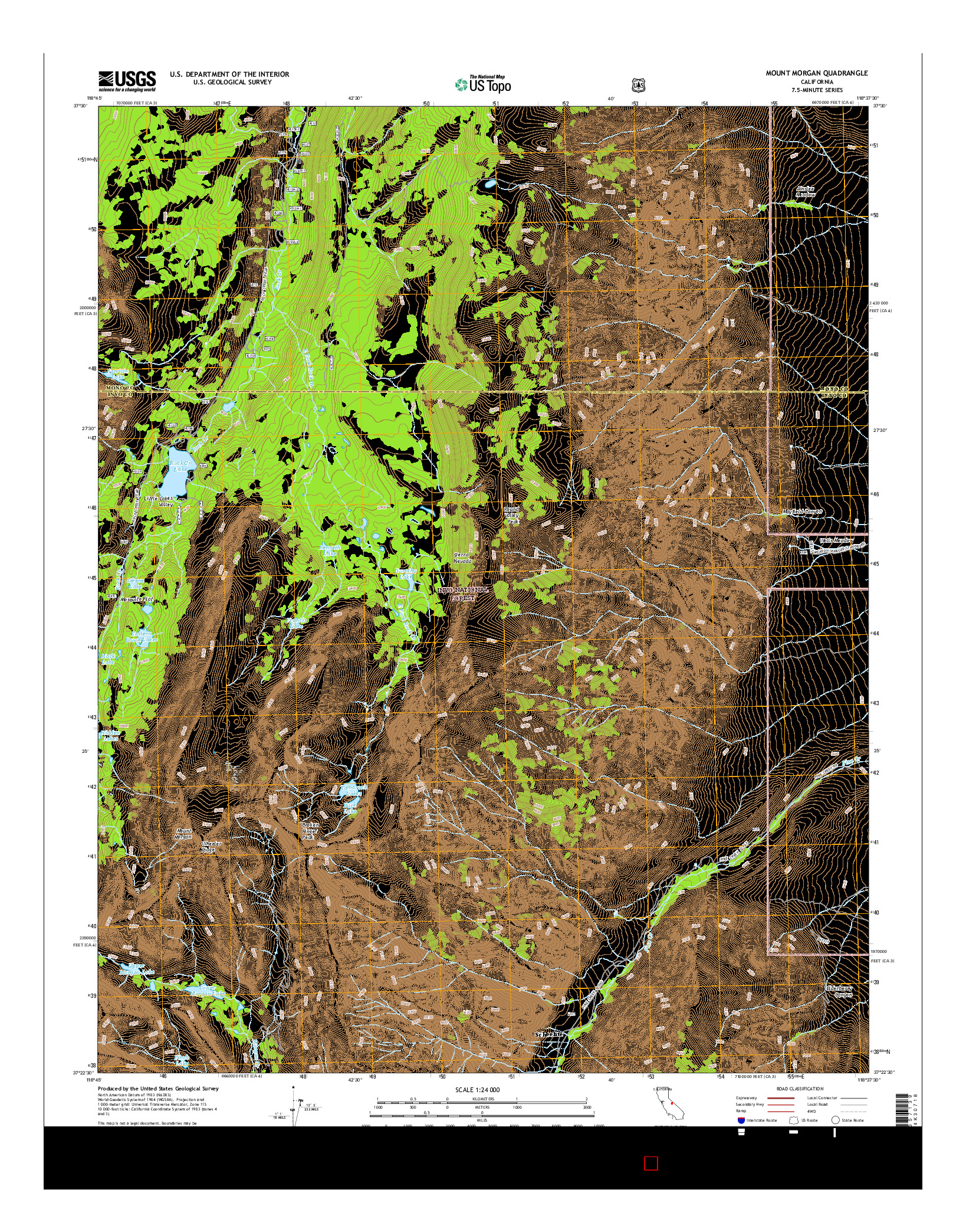 USGS US TOPO 7.5-MINUTE MAP FOR MOUNT MORGAN, CA 2015
