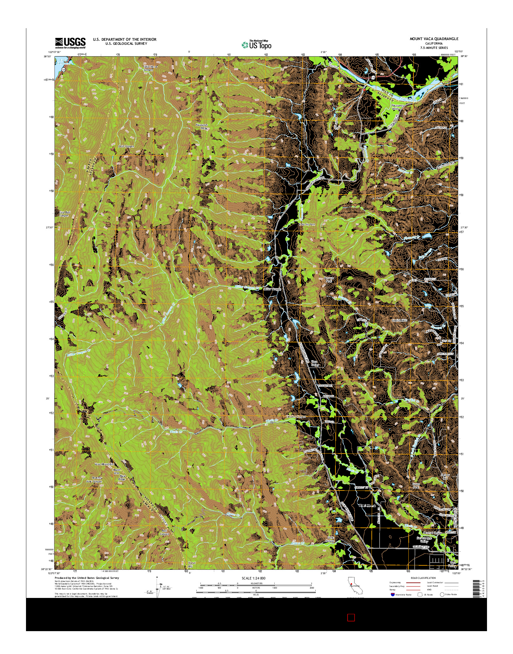 USGS US TOPO 7.5-MINUTE MAP FOR MOUNT VACA, CA 2015