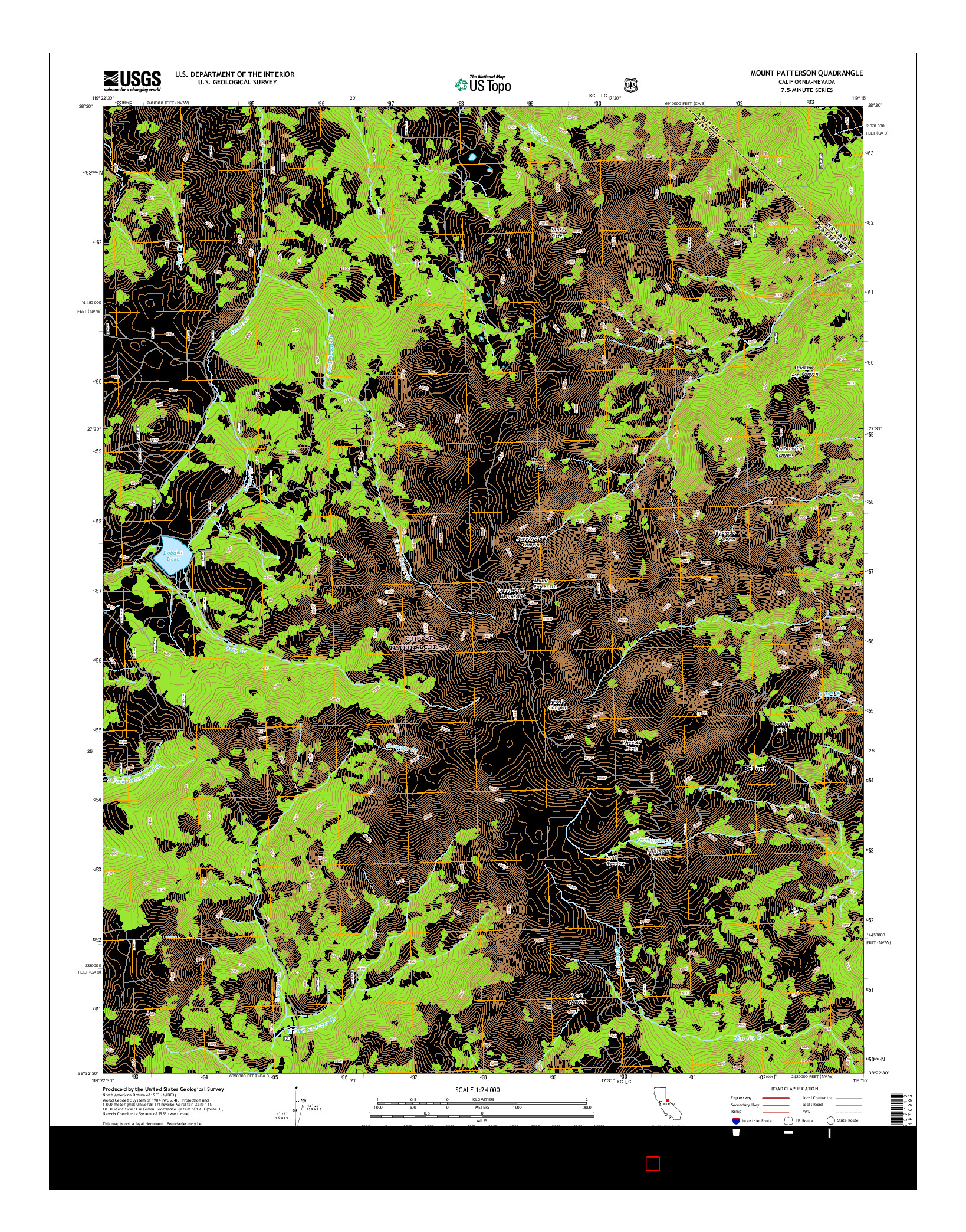 USGS US TOPO 7.5-MINUTE MAP FOR MOUNT PATTERSON, CA-NV 2015