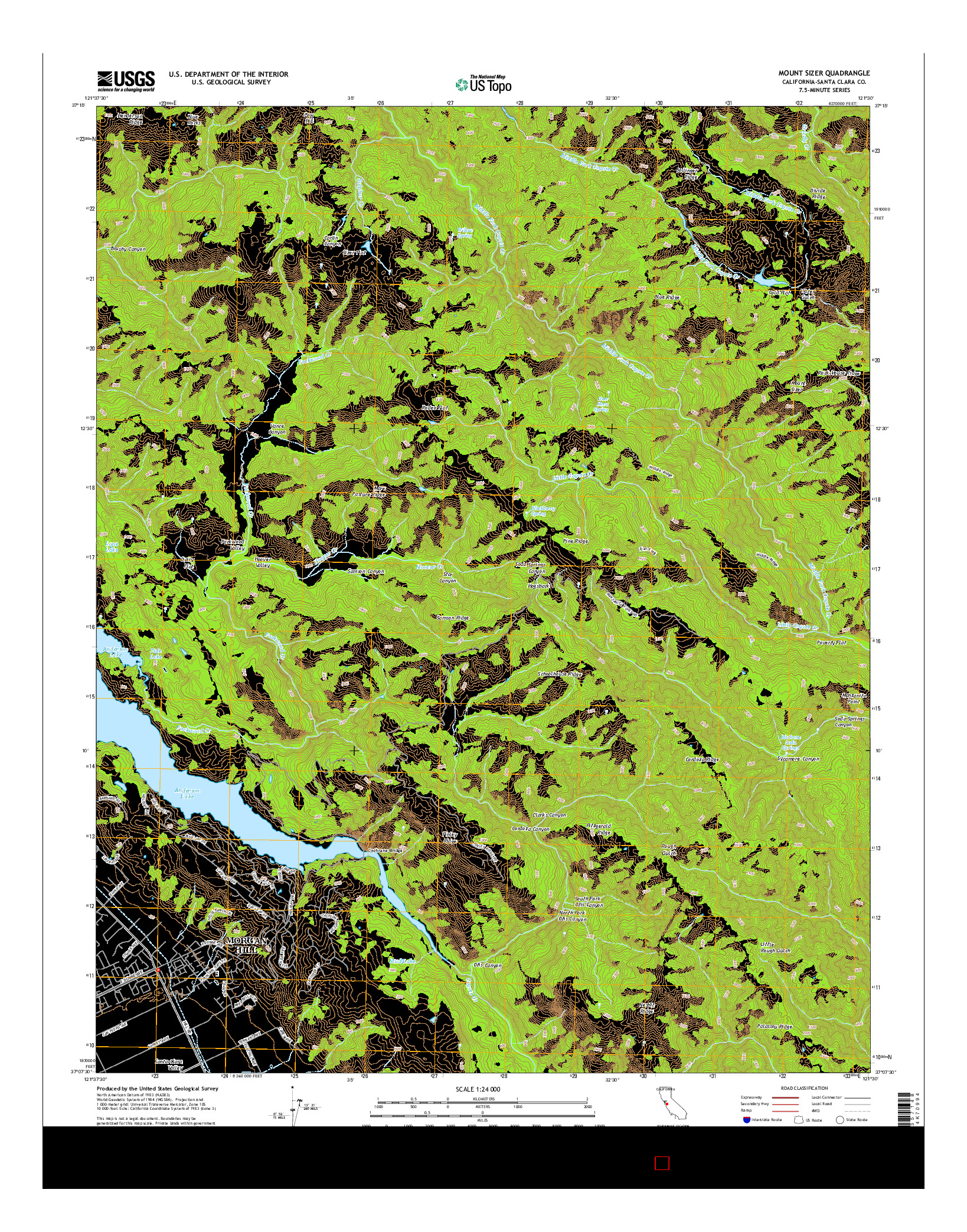 USGS US TOPO 7.5-MINUTE MAP FOR MOUNT SIZER, CA 2015