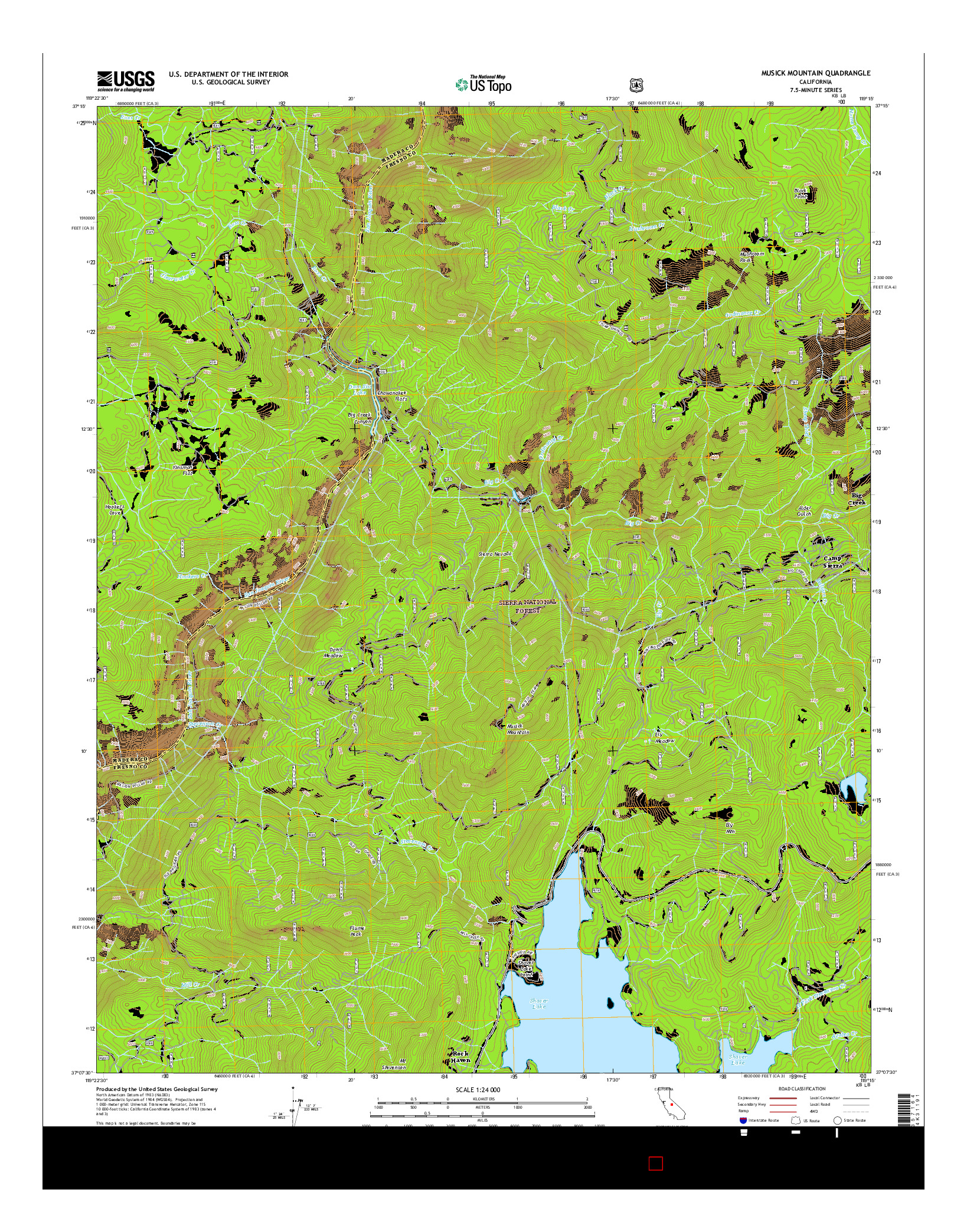 USGS US TOPO 7.5-MINUTE MAP FOR MUSICK MOUNTAIN, CA 2015
