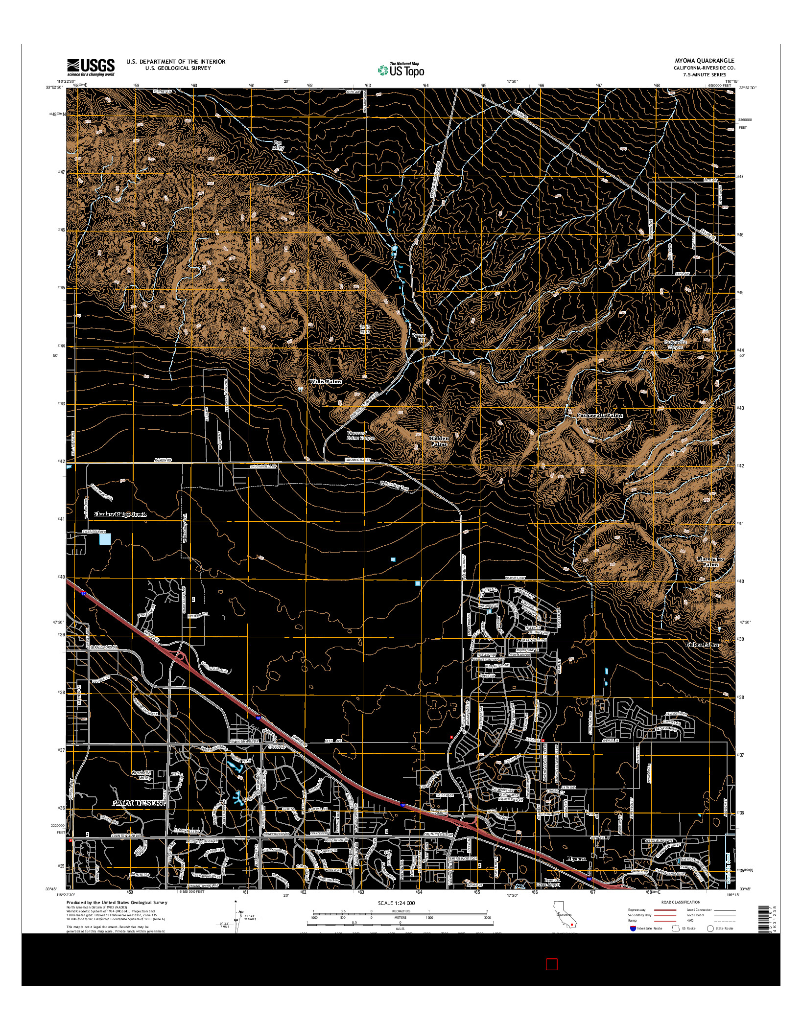 USGS US TOPO 7.5-MINUTE MAP FOR MYOMA, CA 2015