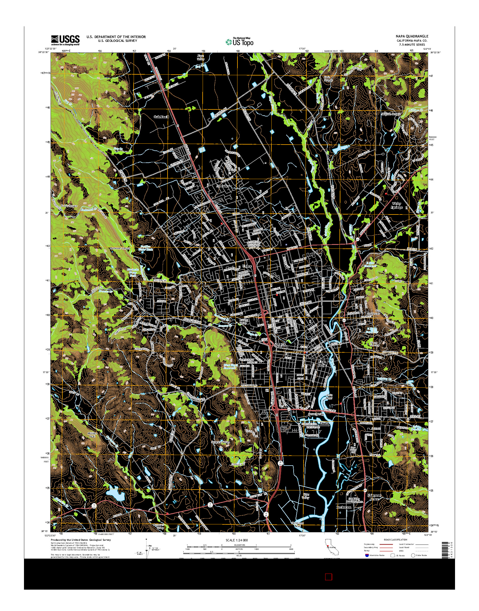 USGS US TOPO 7.5-MINUTE MAP FOR NAPA, CA 2015