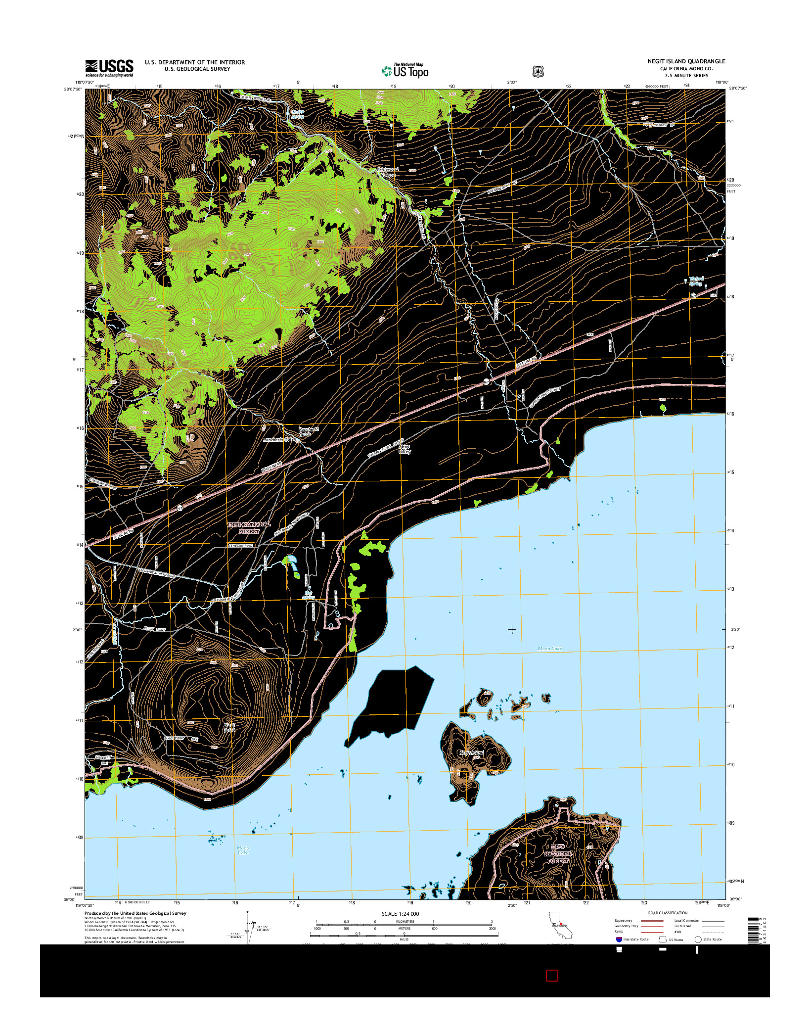 USGS US TOPO 7.5-MINUTE MAP FOR NEGIT ISLAND, CA 2015