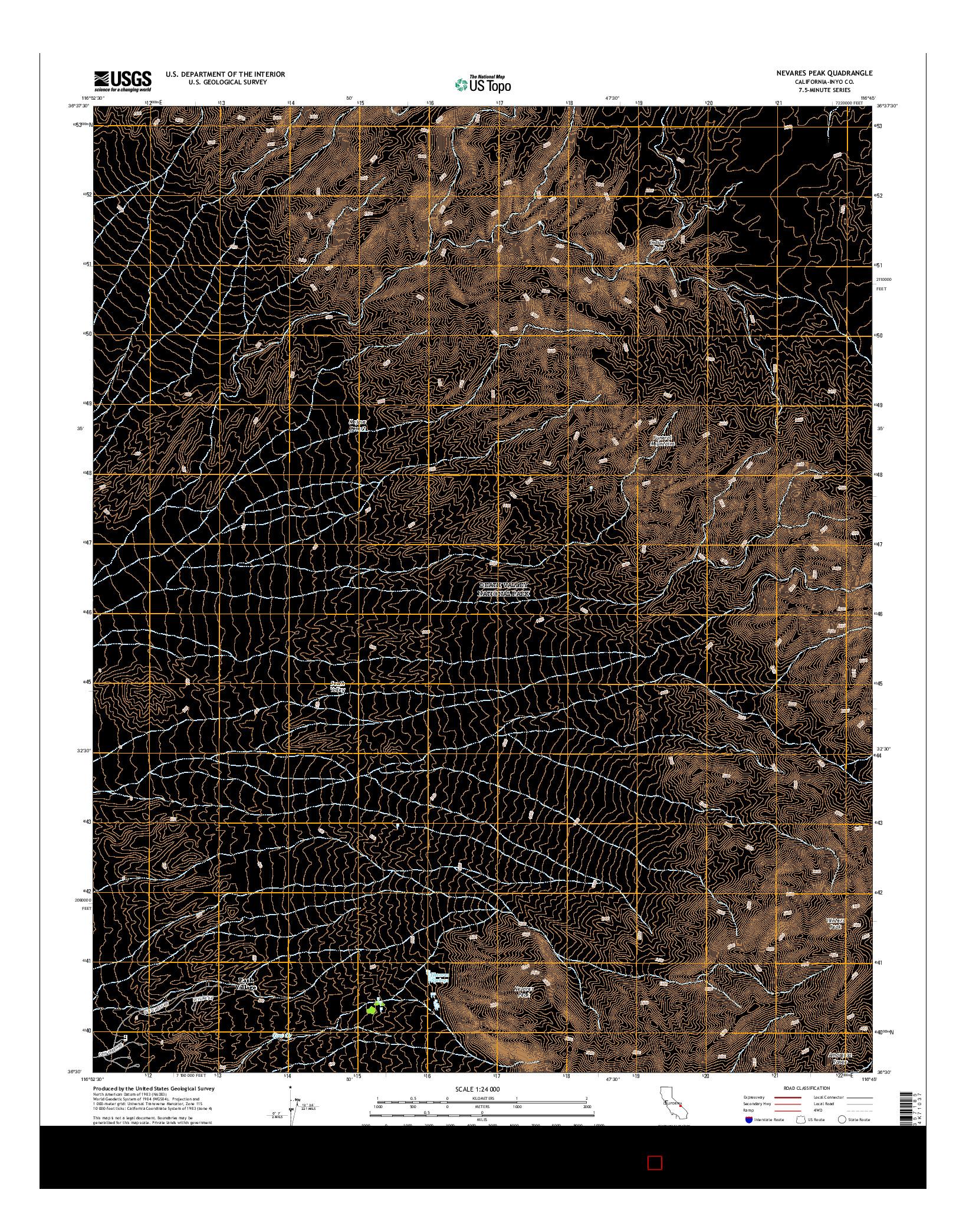 USGS US TOPO 7.5-MINUTE MAP FOR NEVARES PEAK, CA 2015