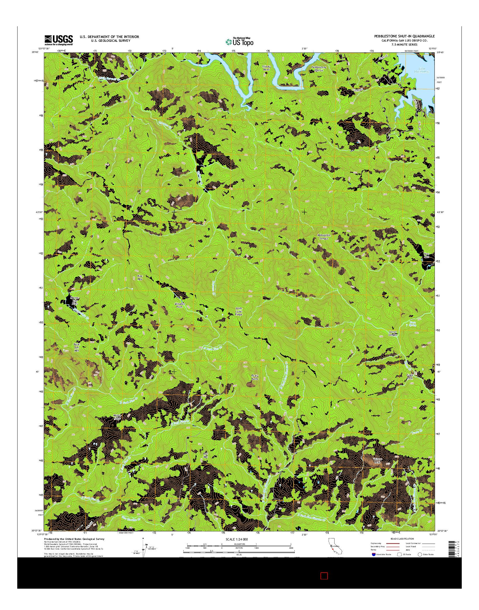 USGS US TOPO 7.5-MINUTE MAP FOR PEBBLESTONE SHUT-IN, CA 2015