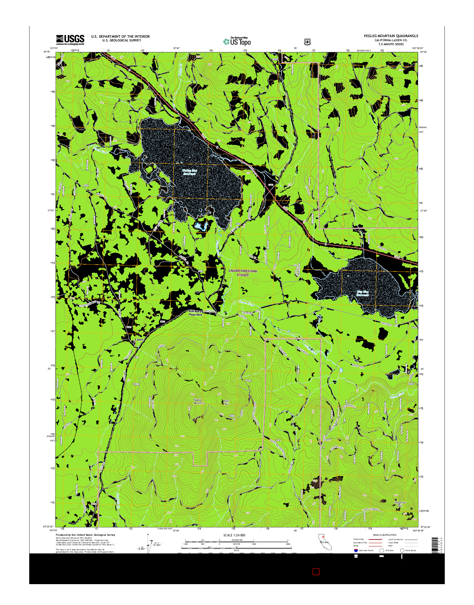 USGS US TOPO 7.5-MINUTE MAP FOR PEGLEG MOUNTAIN, CA 2015