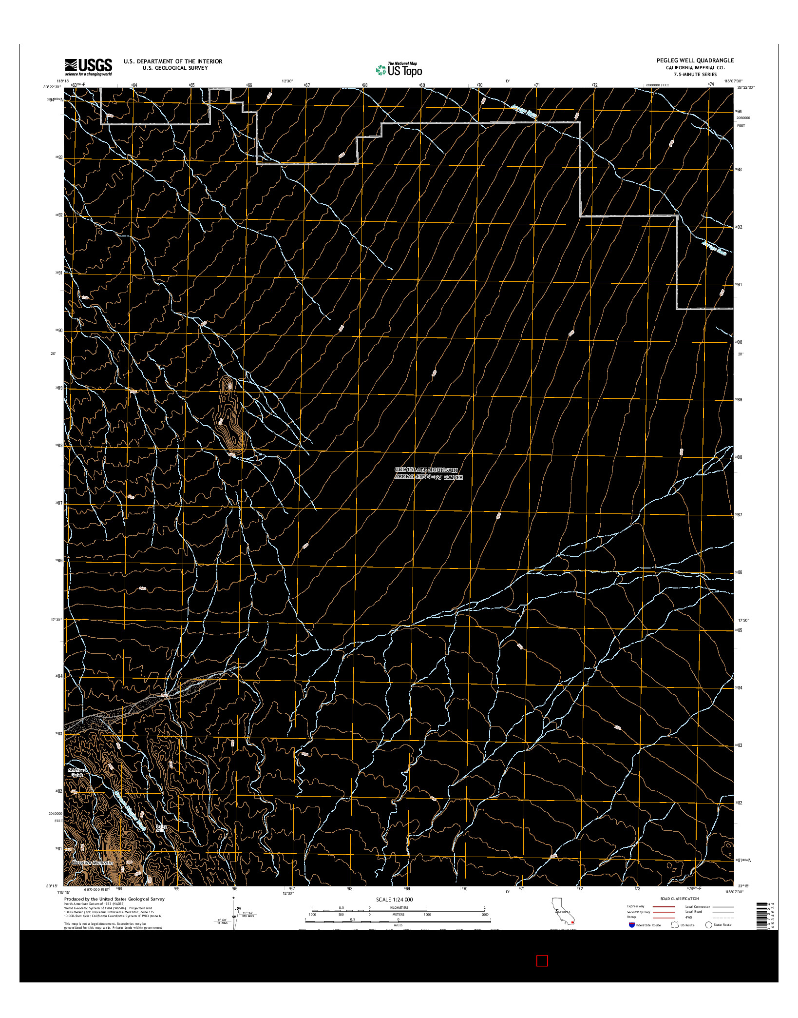 USGS US TOPO 7.5-MINUTE MAP FOR PEGLEG WELL, CA 2015