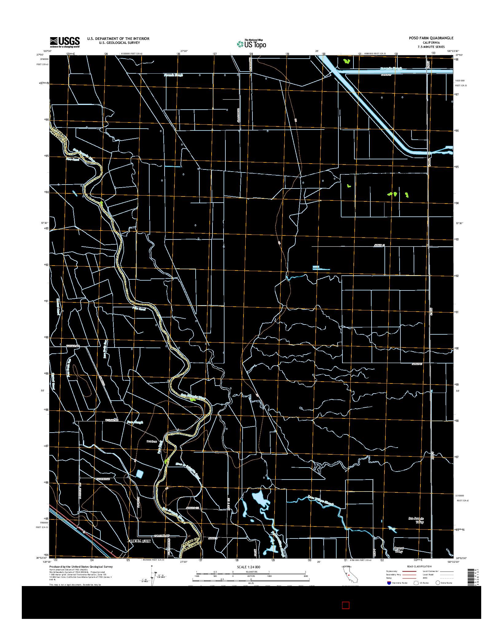 USGS US TOPO 7.5-MINUTE MAP FOR POSO FARM, CA 2015