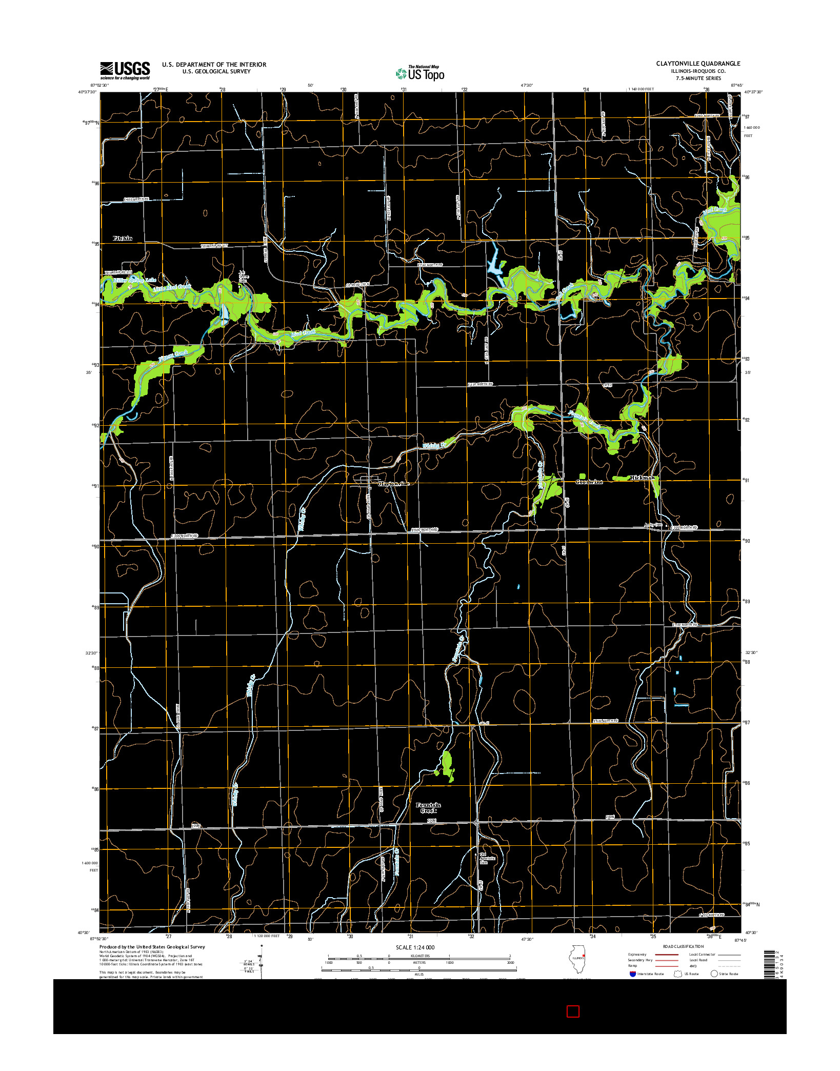 USGS US TOPO 7.5-MINUTE MAP FOR CLAYTONVILLE, IL 2015