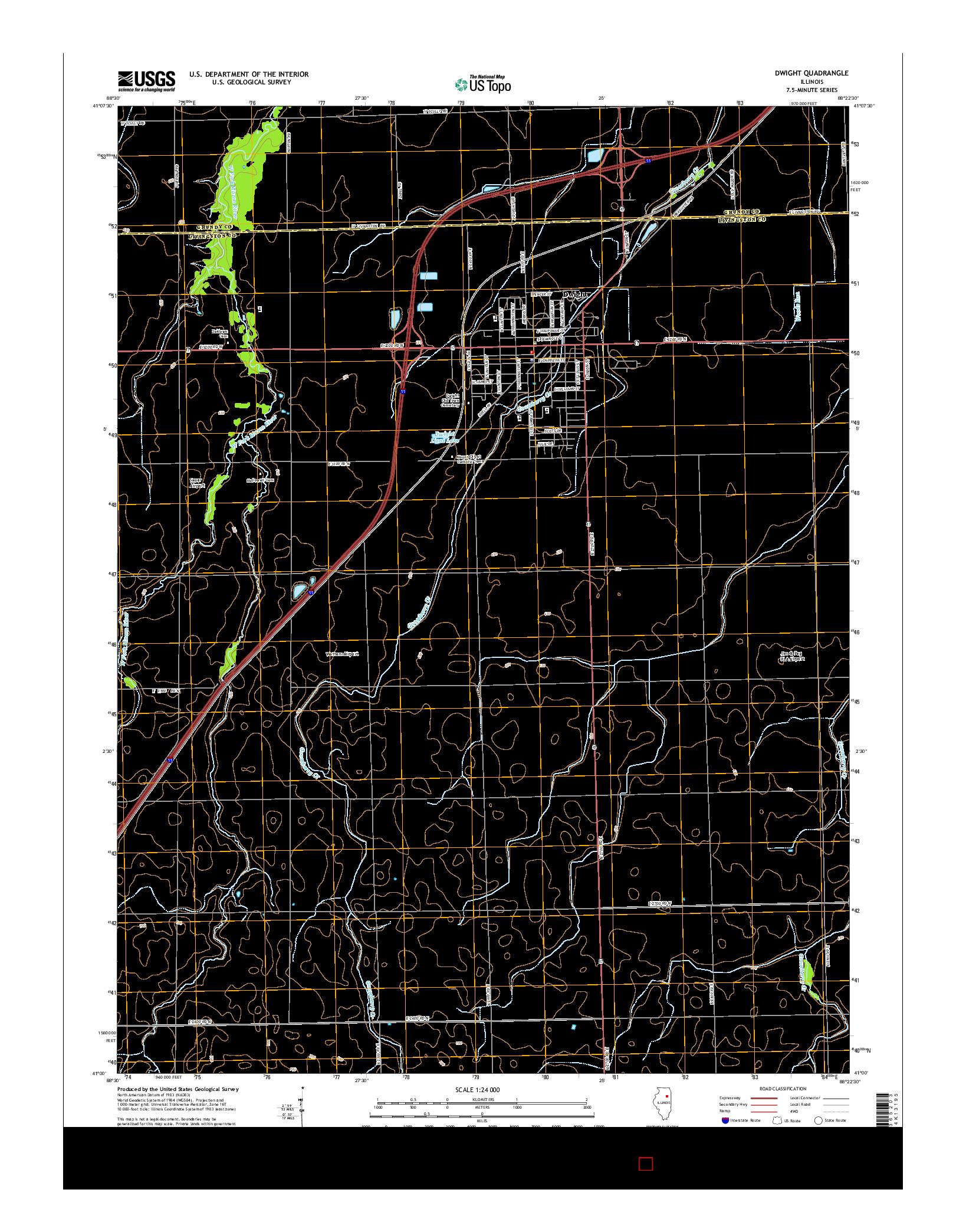 USGS US TOPO 7.5-MINUTE MAP FOR DWIGHT, IL 2015