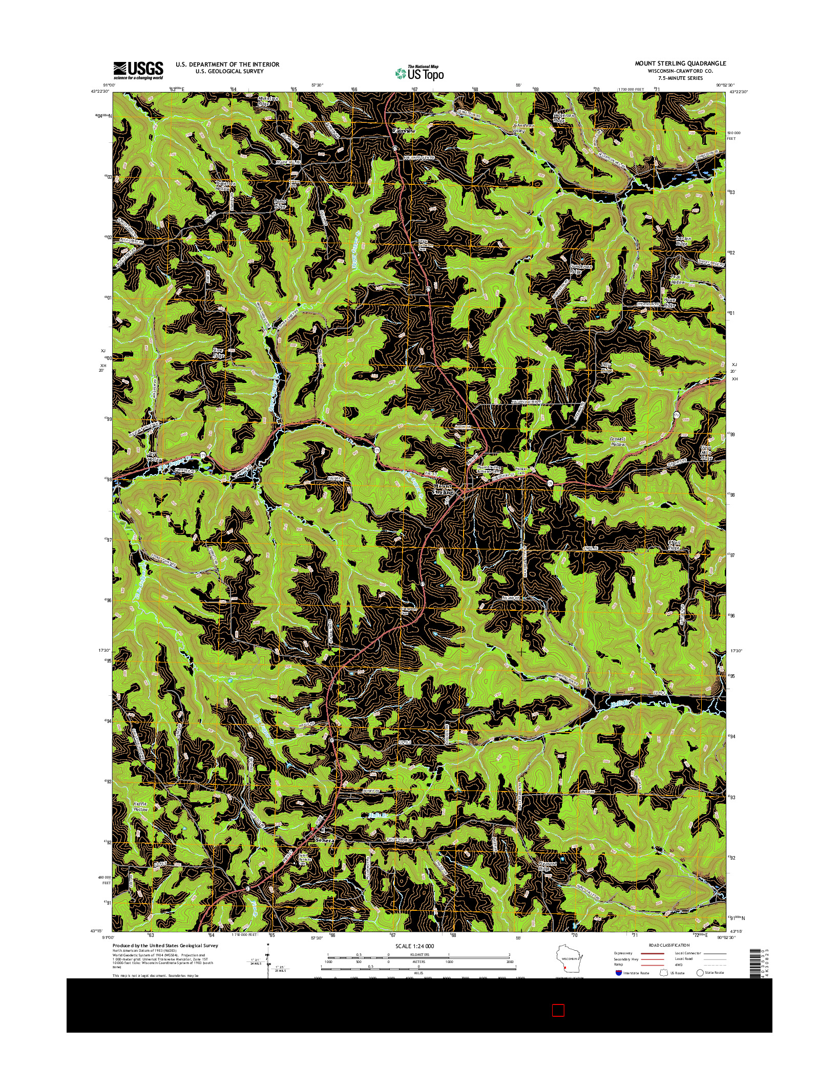 USGS US TOPO 7.5-MINUTE MAP FOR MOUNT STERLING, WI 2016
