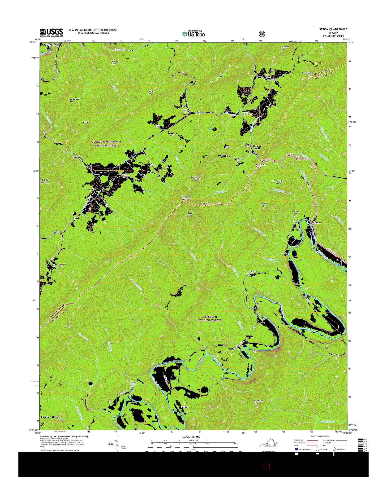 USGS US TOPO 7.5-MINUTE MAP FOR STROM, VA 2016